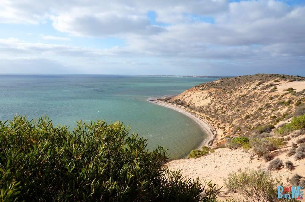 Aussicht auf Shark Bay bei unserer Quad Tour