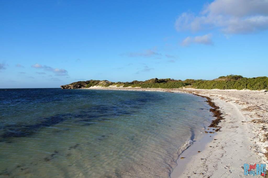 Strand vor Milligan Island vor Abenddämmerung