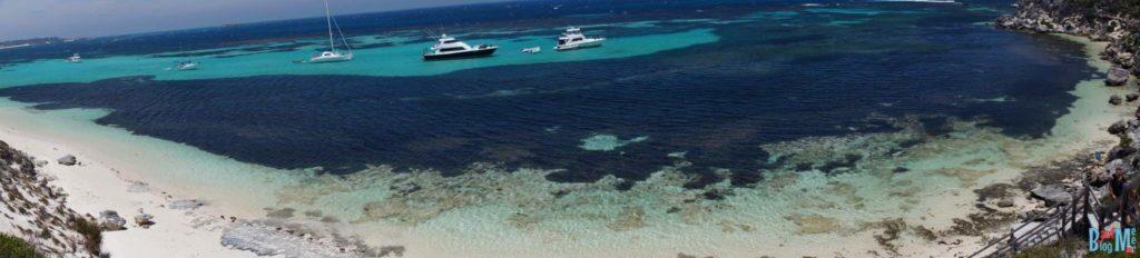 Yacht in Parker Point Bucht Rottnest Island