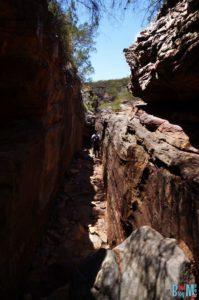 Schluchten auf dem Z Bend River Trail im Kalbarri Nationalpark