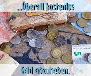 Überall kostenlos Geld abheben mit der 1plus Visa-Card