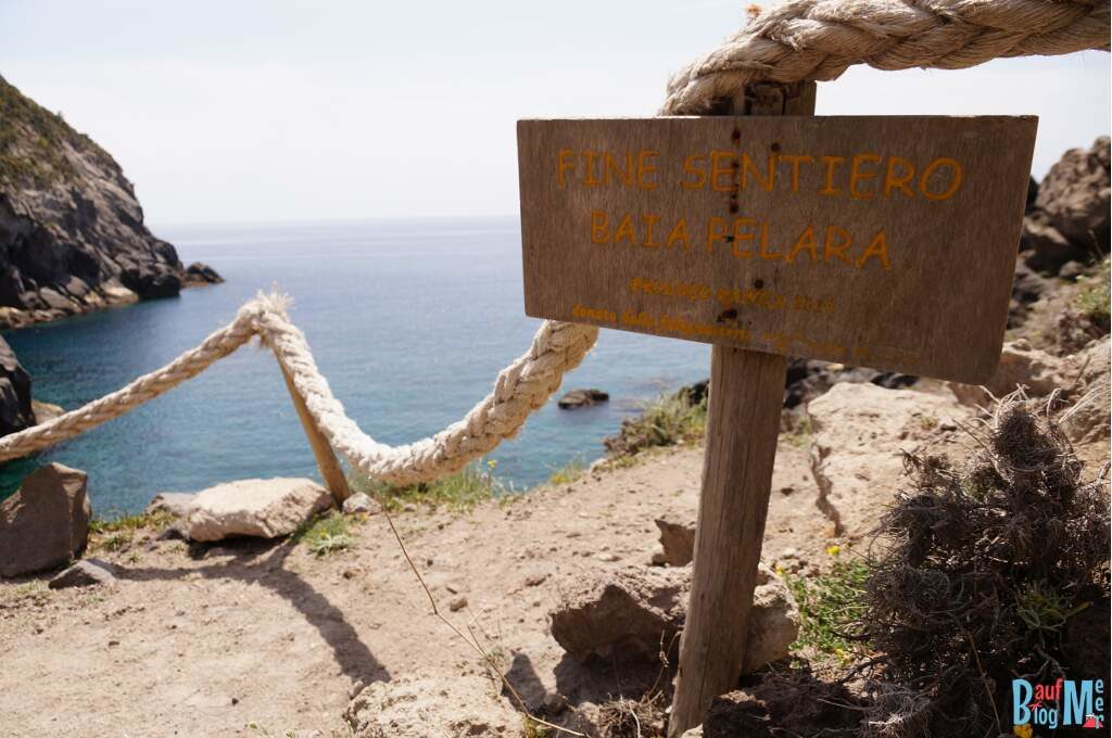 Ende der Wanderung zur Perlara Bucht auf Ischia