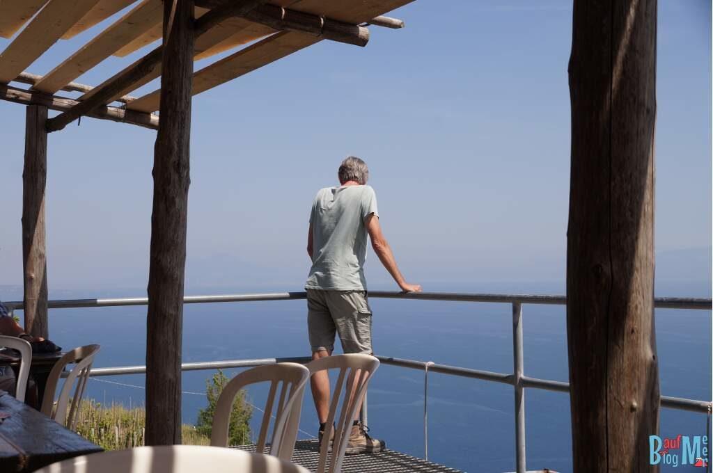 Ausblicke von der Terasse des Piano Liguori auf der InselIschia