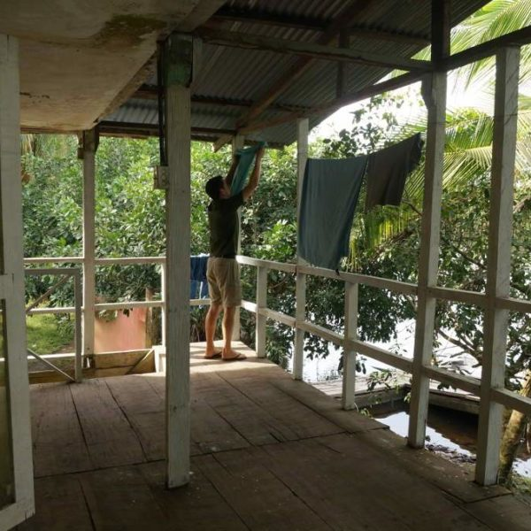Balkon der einfachen AAMVECONA Unterkunft zu den Seekühen