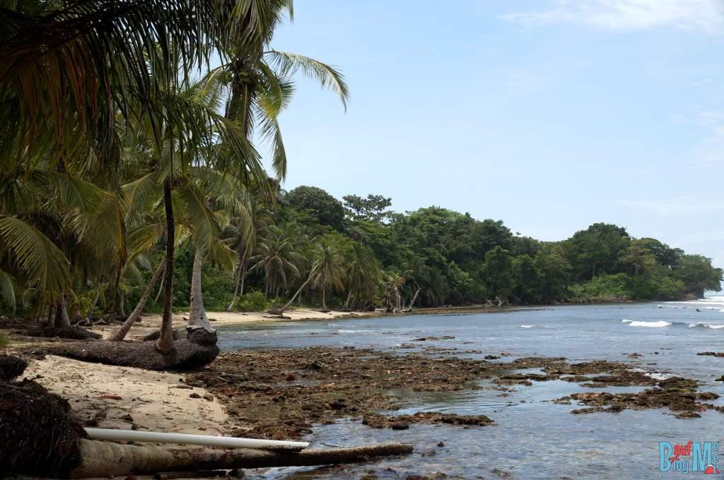 Bucht auf Carenero, Bocas del Toro zur Regenzeit
