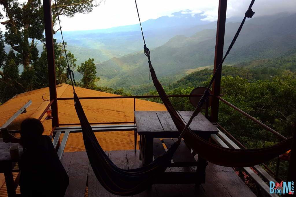 Aussicht vom Lost and Found Hostel auf den Volcan Baru