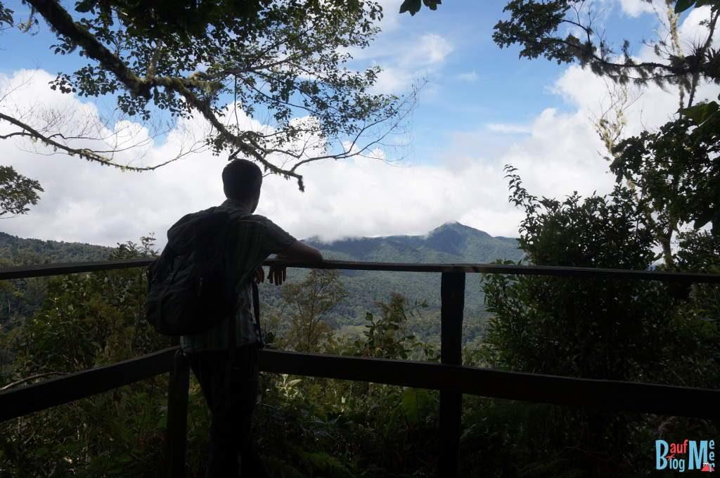 Am Mirador las Rocas auf dem Sendero los Quetzales