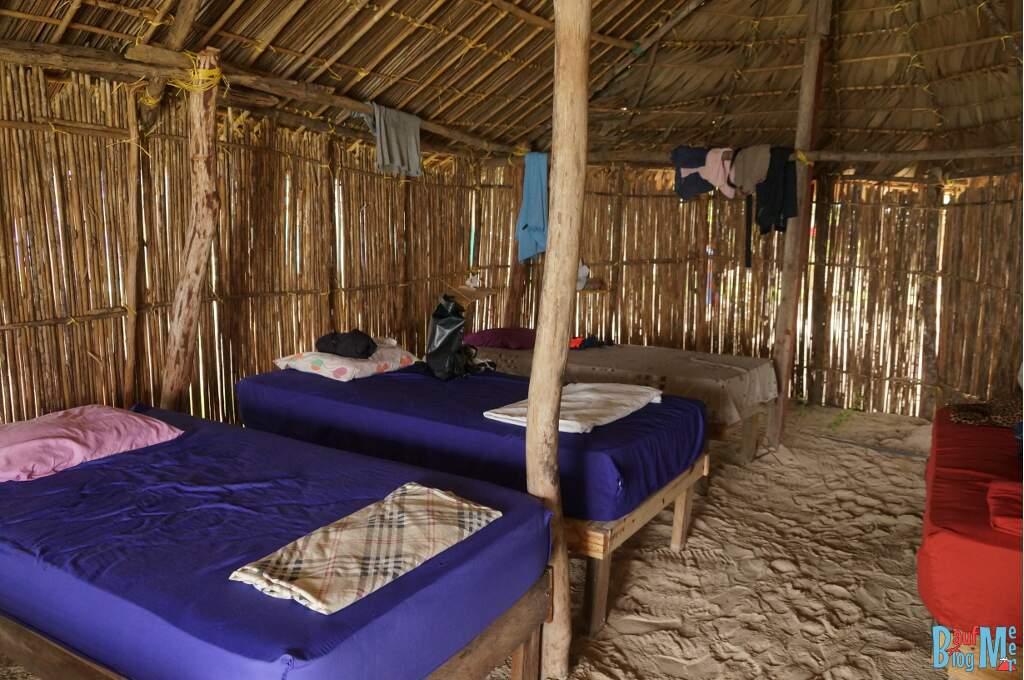 Betten direkt im Sand auf San Blas Panama