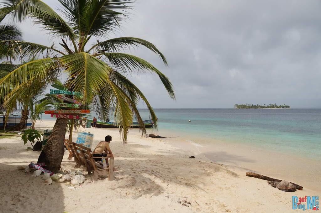Strandabschnitt auf unserer ersten Insel in San Blas Panama