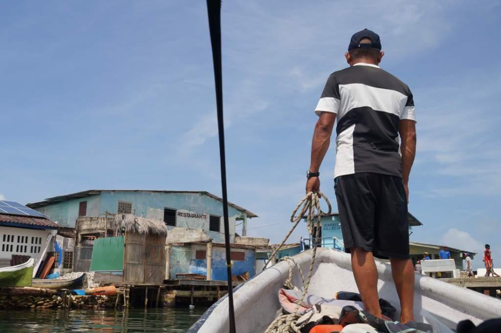 Boot auf den San Blas Inseln