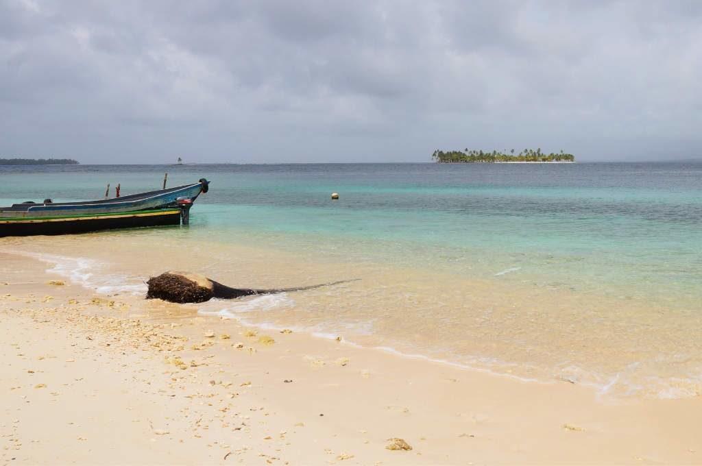 Bewölkter Himmel auf den San Blas Inseln