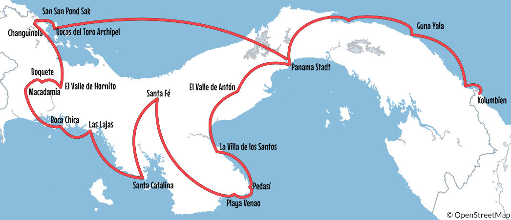 Backpacking Panama: unsere Route