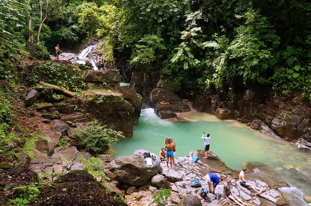 Ein Highlight beim Backpacking in Panama: Pozo Azul