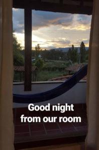 Unser Ausblick aus dem Zimmer des Estancia Nueva Granada
