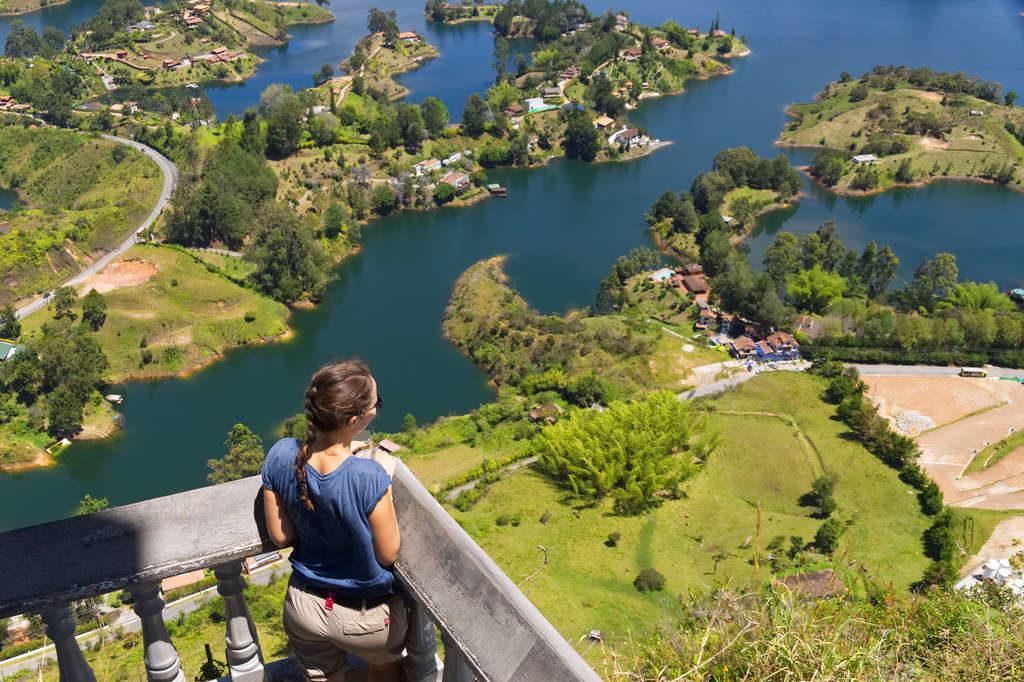 Aussicht von der Terrasse des Piedra del Peñol