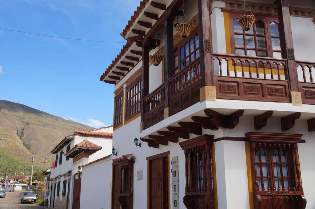 Holzbalkon in Villa de Leyva