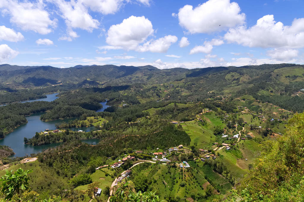 Guatape Landschaft vom Piedra la Penol