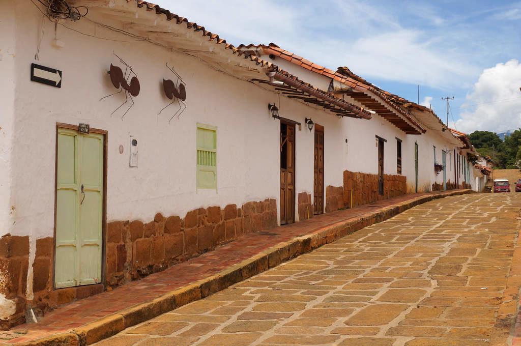 Ameisen an Hauswänden in Barichara