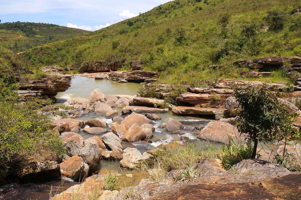 Eine Badestelle des Pescaderito in der Nähe von Curití