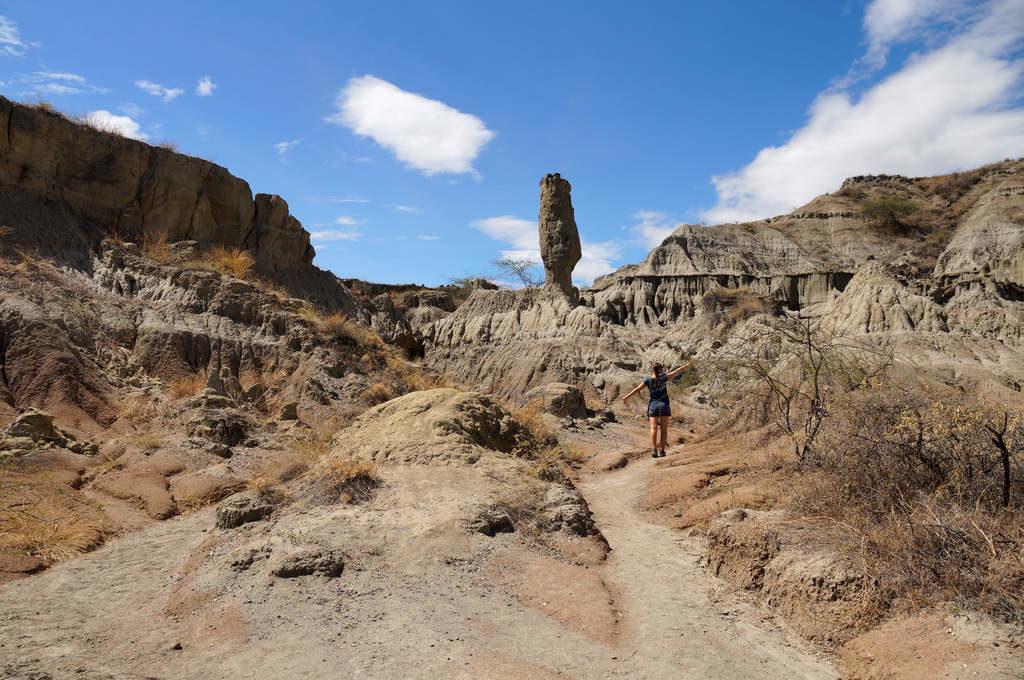 Felsen, Formationen und Wege in der Tatacoa Füste