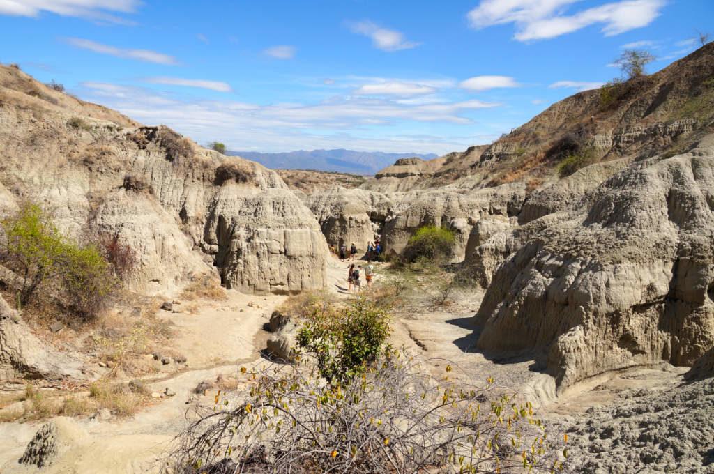 Aussicht auf die graue Tatacoa Wüste