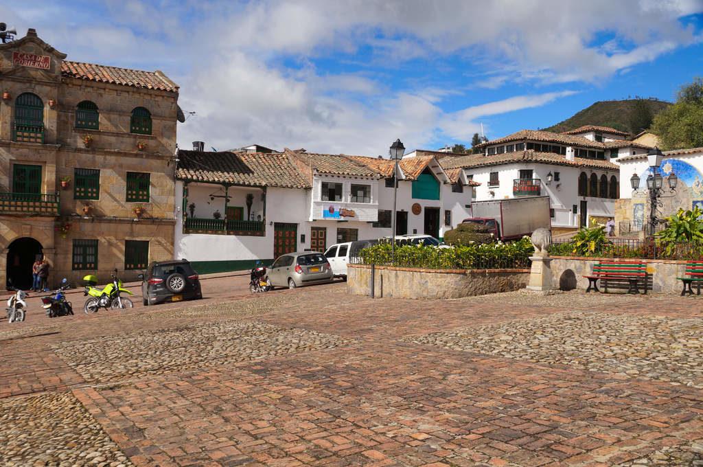 Der Hauptplatz von Monguí
