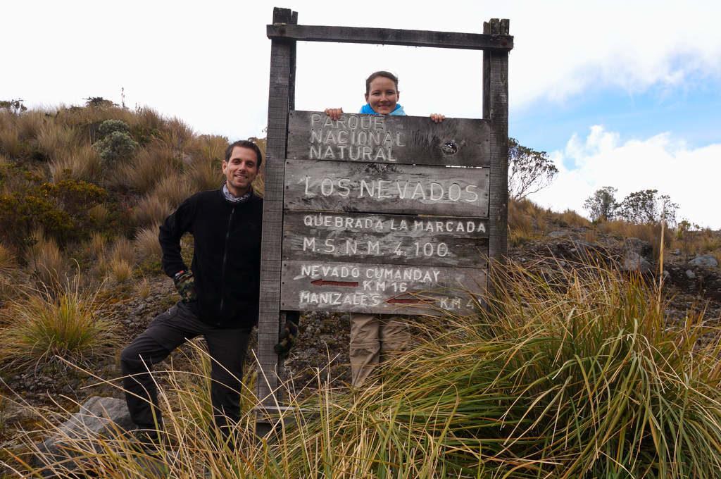 Schild Parque Nacional Los Nevados
