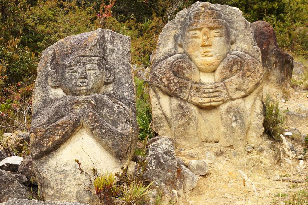 Petroglyphen im Páramo de Oceta