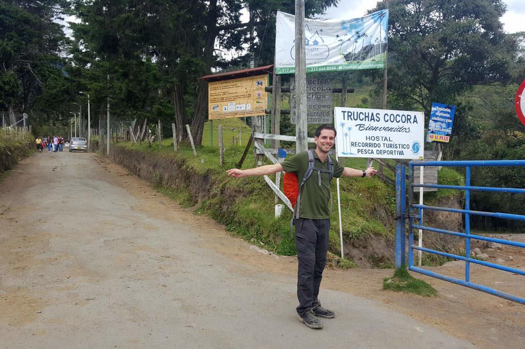 Startpunkt der Wanderung im Valle de Cocora
