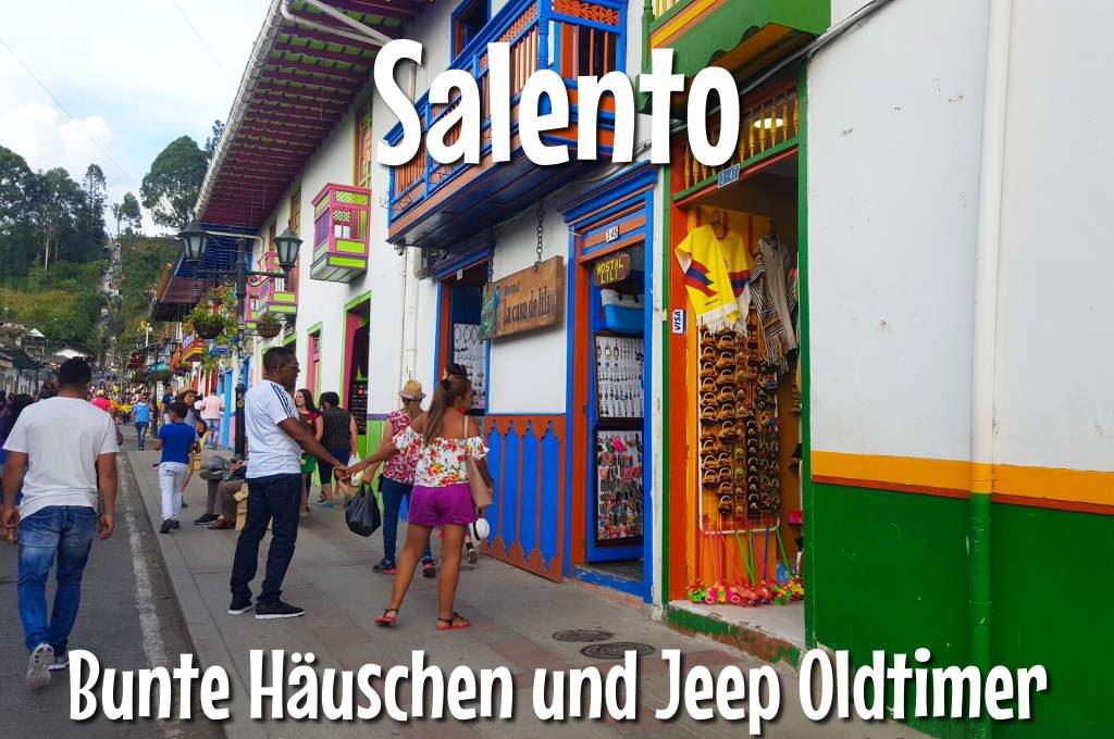 Calle Real, bunte Häuser in Salento