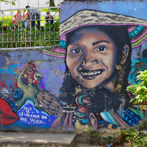 Graffiti in der Comuna 13