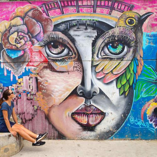 Pacha Mamma Graffiti in der Comuna 13