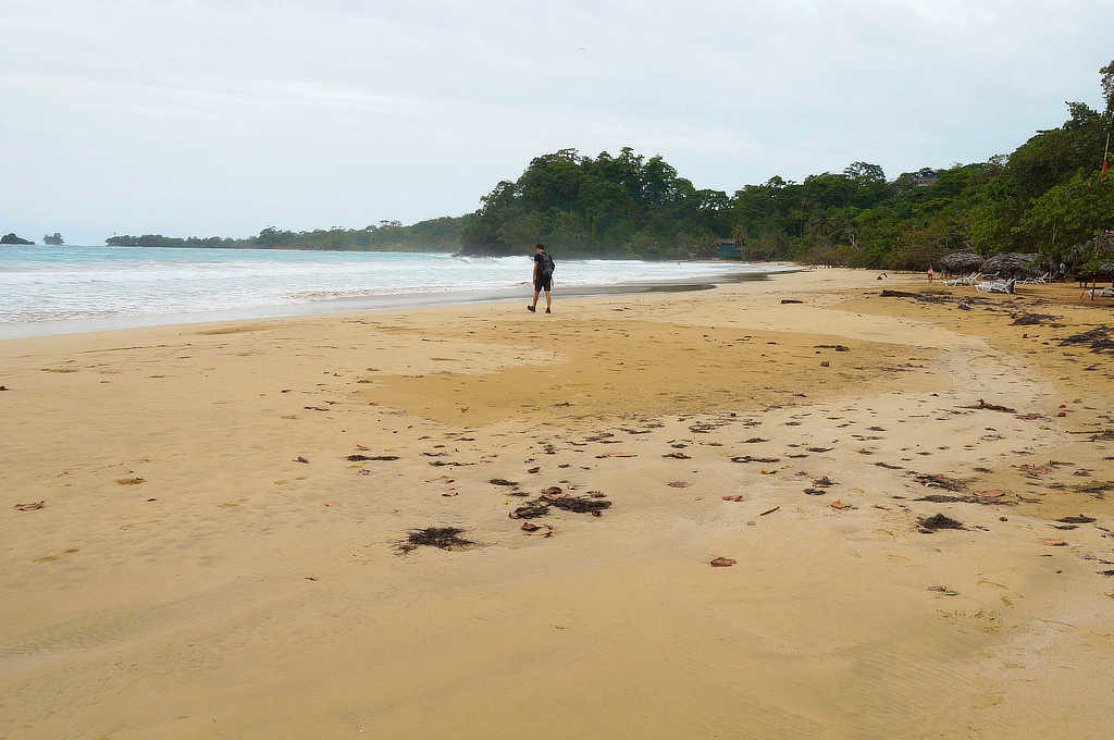 Playa Red Frog auf Bastimentos direkt vor der Palmar Lodge