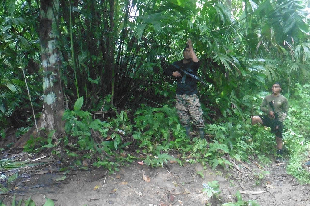 Soldaten der Senafront im Darien Gap